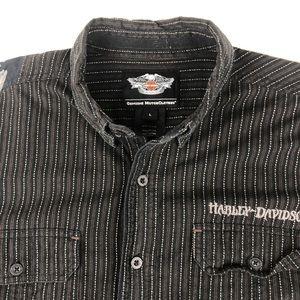Harley Davidson Men's button front shirt Sz Large